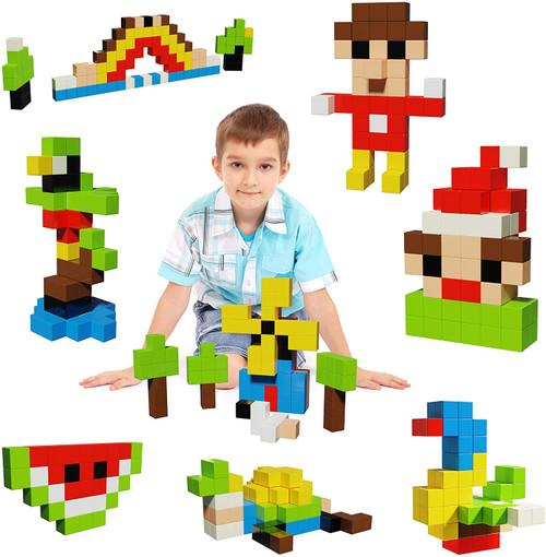 PIcasso Tiles 100 Piece Magnetic Cubes