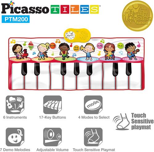 Large Piano Keyboard Educational Musical Playmat