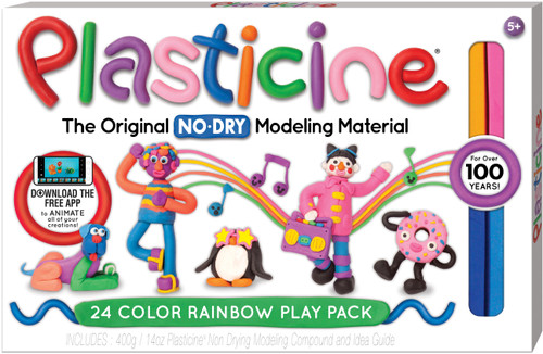 Plasticine 24 Color Play Pack
