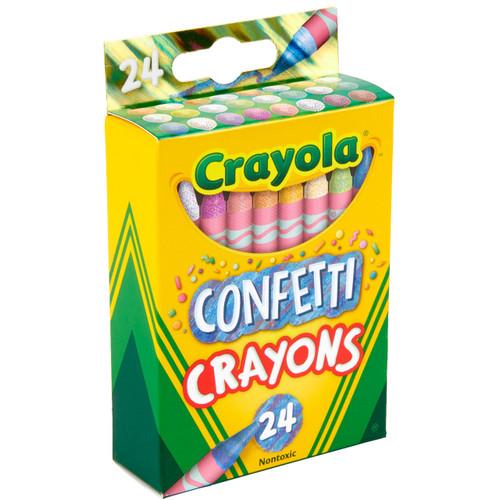 Crayola Confetti Crayons 24 Ct