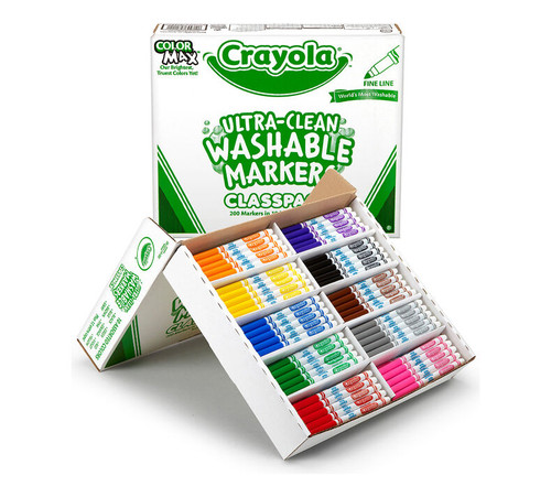 Crayola Classpack Washable Fine Line Markers 200 Ct