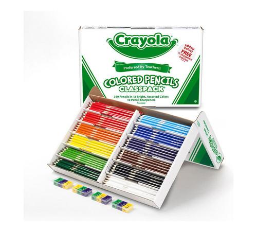 Crayola Colored Pencil Classpack 240 Ct