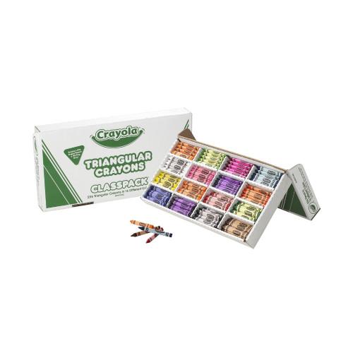 Crayola Anti-Roll Triangular Crayon Classpack 256 Ct