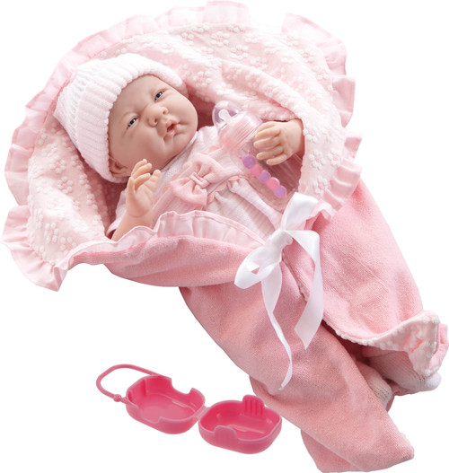 La Newborn Soft Body Boutique Baby Doll Pink