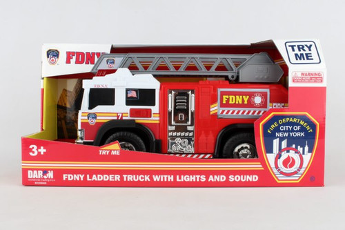 FDNY Fire Ladder Truck with Lights and Sounds