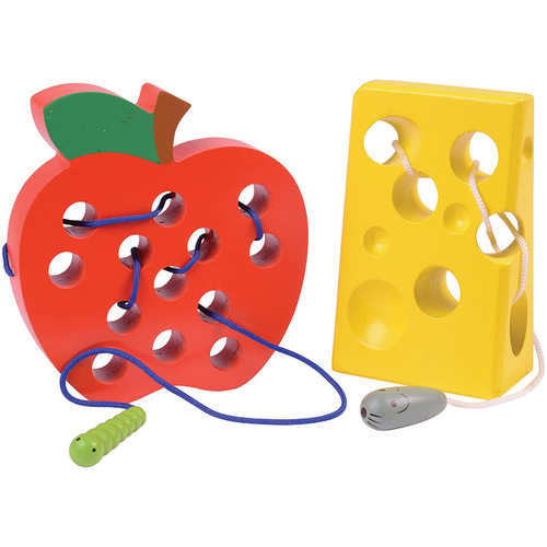 Apple & Cheese Lacing Set