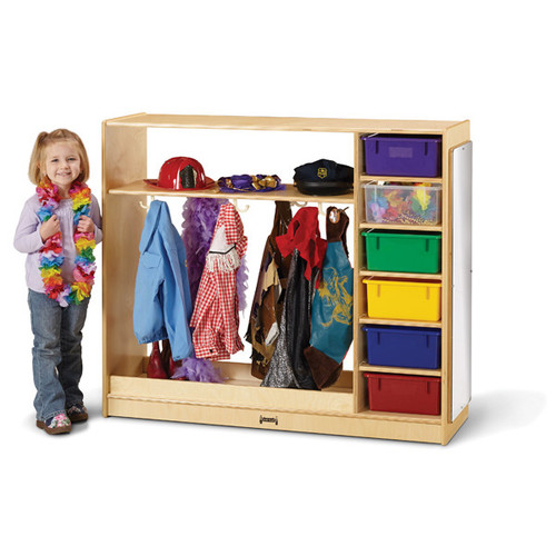 Jonti Craft Dress Up Storage – with Colored Tubs