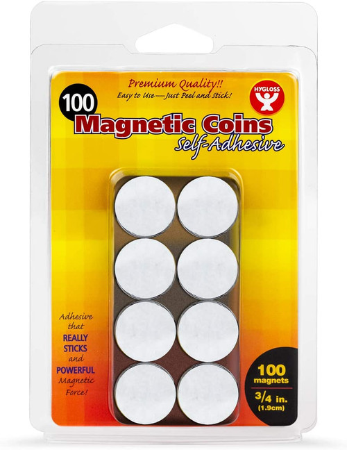 Self Adhesive Magnetic Coins