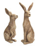 Pair of Large Crackle-Finish Rabbits