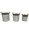 White Washed Langford Buckets | Set of 3