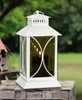 Mirrored Glass Lantern with Moving Flame | Round Detail
