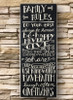 Family Rules | 30 Inch Plaque