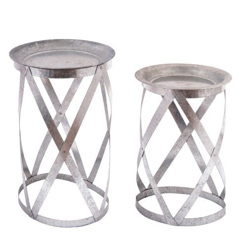 Galvanized Nested Tables | Set of 2