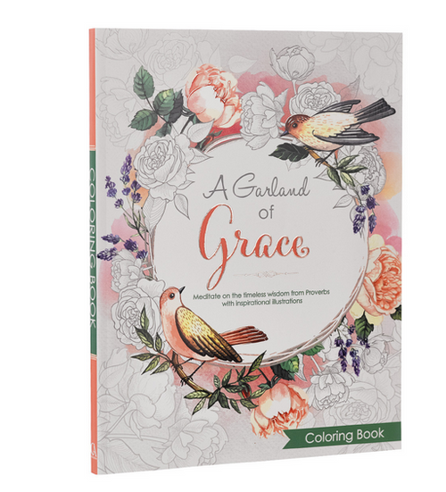 A Garland of Grace   Inspirational Coloring Book