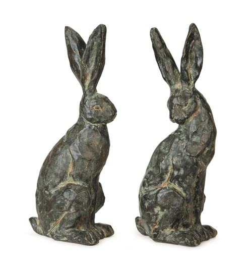 Pair of Stately Brown Rabbits