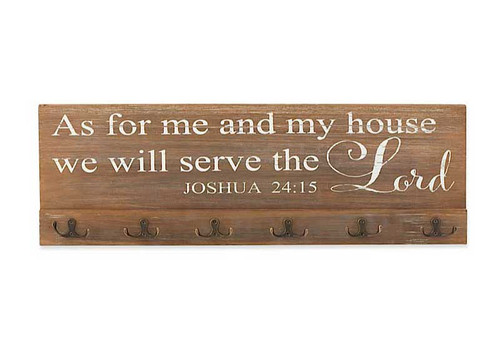 As for Me and My House | 6 Hook Sign