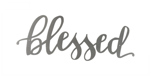 Blessed Metal Word Art
