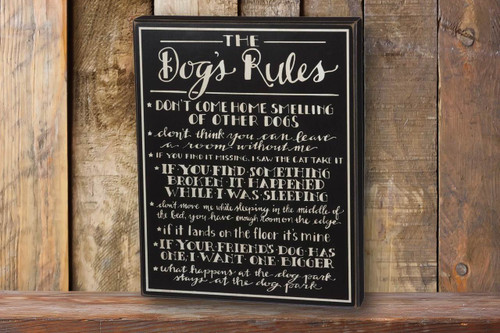 Dog's Rules | Wall Sign