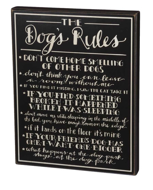 Dog's Rules   Wall Sign