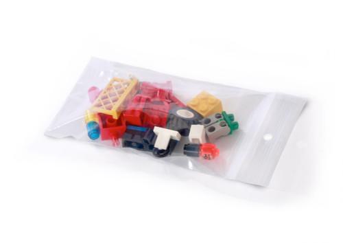 Reclosable Ziptop Bags W/ HangHoles (4 Mil)