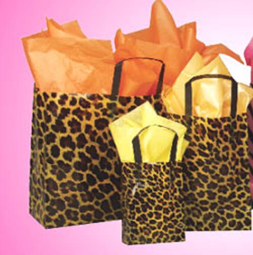 Plastic Shopper W/Leopard Print Design