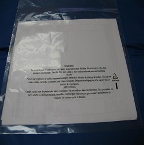 "Lip & Tape Flap Seal Bags Printed W/""suffocation warning"""