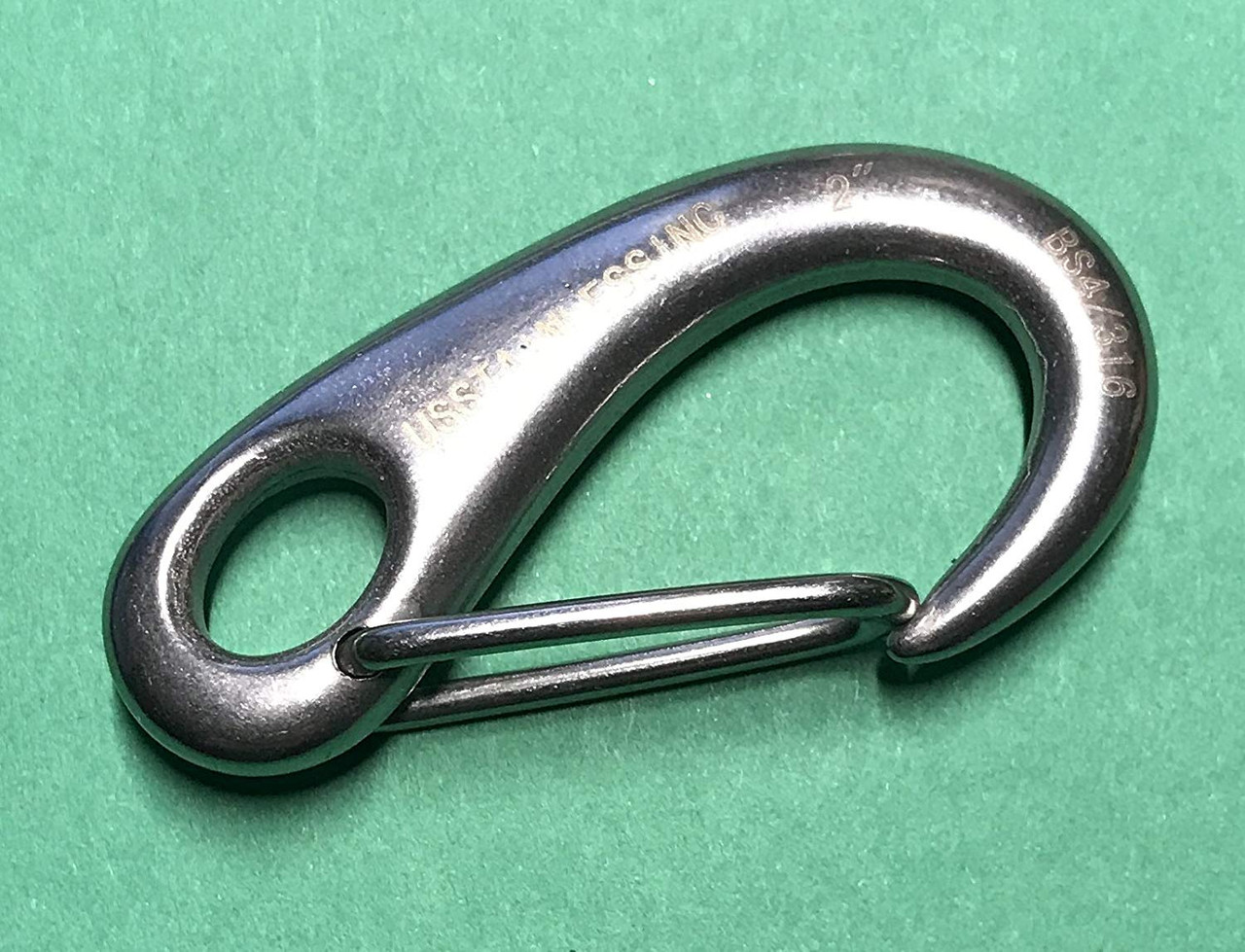 Stainless Steel 304 Spring Gate Snap Hook Clip Marine Grade Lobster Claw
