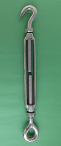 3//8 10mm Turnbuckle Eye and Eye with Locknuts Marine Grade M10 Metric Thread US Stainless 316 Stainless Steel M10