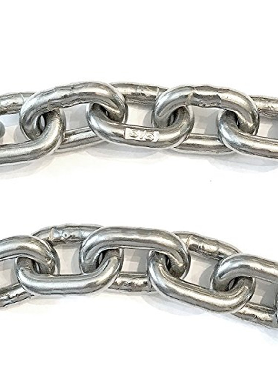 """Stainless Steel Windlass Anchor Chain 316 7mm (1/4"""") DIN766 by the foot"""