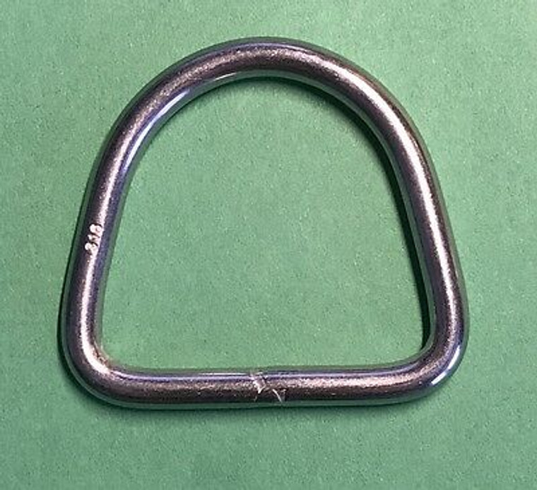 """Stainless Steel 316 D Ring 3/16"""" x 1 1/2"""" (5mm x 40mm) Marine Grade"""