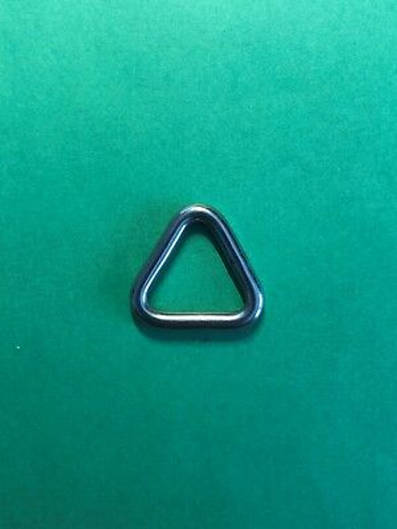 """Stainless Steel 316 Triangle Ring Welded 5/32"""" x 3/4"""" (4mm x 20mm) Marine"""