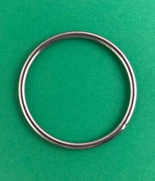"Stainless Steel 316 Round Ring Welded 1/8"" x 1 5/8"" (3mm x 40mm) Marine"