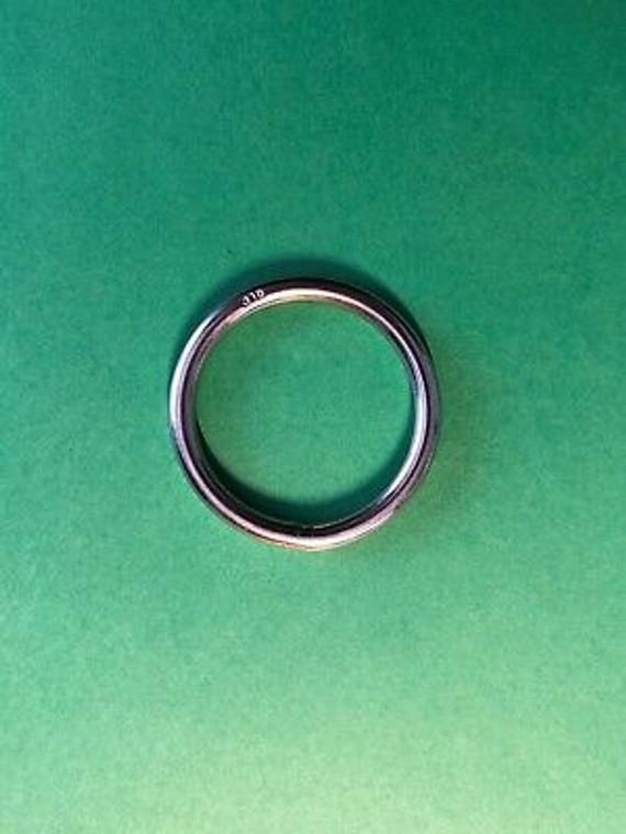 "Stainless Steel 316 Round Ring Welded 5/32"" x 1 3/16"" (4mm x 30mm) Marine Grade"