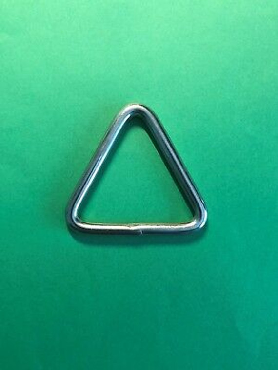 """Stainless Steel 316 Triangle Ring Welded 1/4"""" x 2"""" (6mm x 50mm) Marine Grade"""