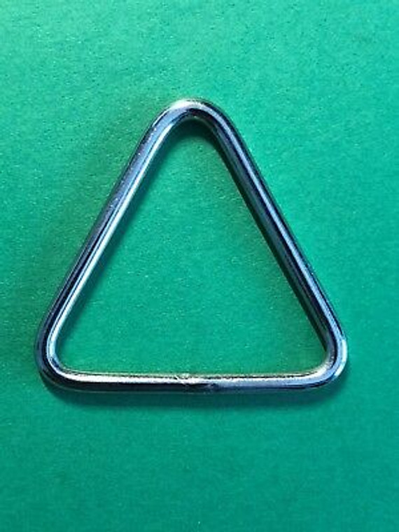 """Stainless Steel 316 Triangle Ring Welded 1/8"""" x 1 3/8"""" (3mm x 35mm) Marine"""