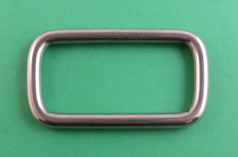 """Stainless Steel 316 Rectangle Adjusting Ring 1/4"""" x 2"""" (6mm x 50mm) Marine"""
