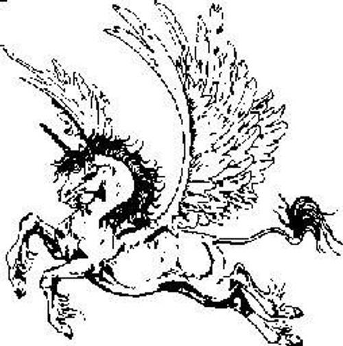 Emerald Creek Flying Unicorn - Cling Mount
