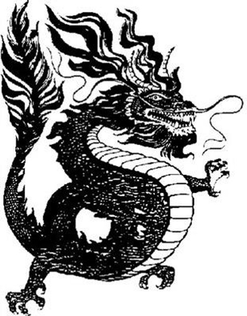 Emerald Creek Chinese Dragon - Cling Mount