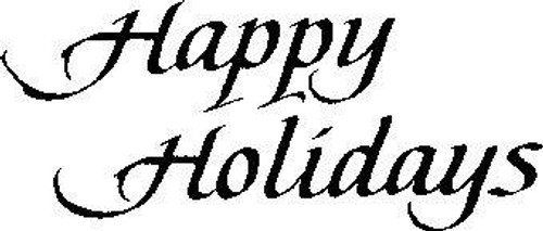 Happy Holidays - Cling Mount