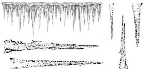 Icicles Stamp Collections - Cling Mount