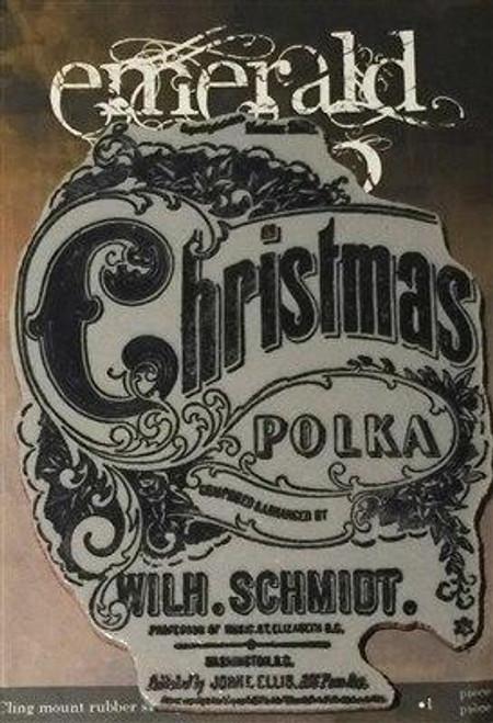 Emerald Creek Christmas Polka Stamp - Cling Mount