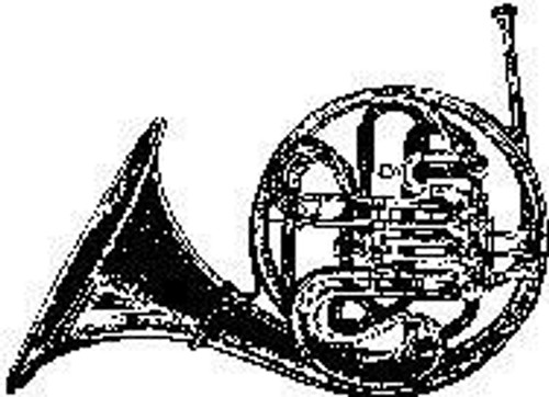 French Horn - Cling Mount