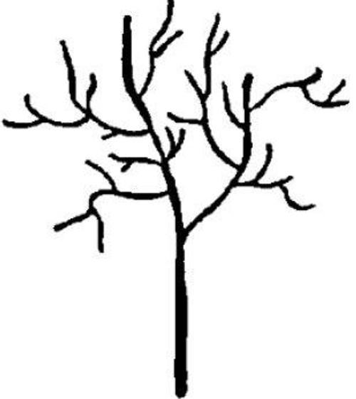 Emerald Creek Winter Tree - Cling Mount