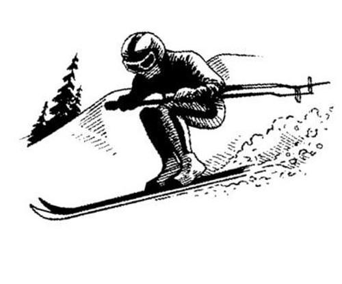 Emerald Creek Skier - Cling Mount