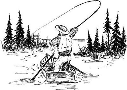 Gone Fishin - Cling Mount