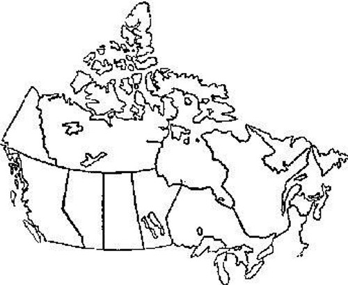 Emerald Creek Canada Map - Cling Mount PRE 1999