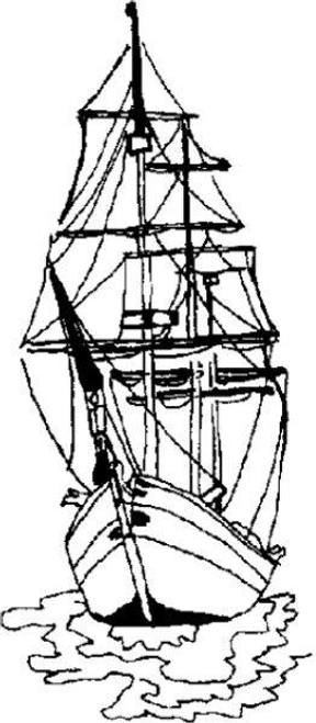 Emerald Creek Tall Ship - Cling Mount