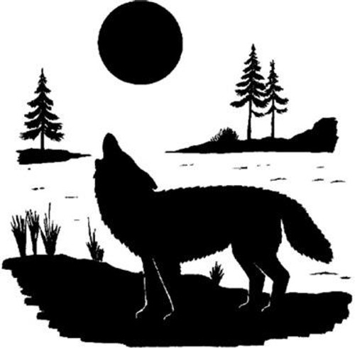 Emerald Creek Wolf Stamp - Cling Mount