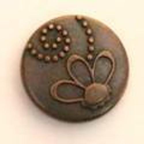 Flower Dots Brads 12/pkg