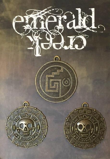 Aztek Skull Charm 3/pkg